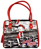 Betty Boop Handbag - Bettys Diner Design Bowler Bag/Bowling Bag - Retro Bag - Official Licensed Product