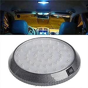 Tolyneil Auto Dach Licht Auto Versorgungsmaterial Superhelles 12v 46 Led Selbstfahrzeug Innenraum Innendach Runde Lampen Auto Leselampe Auto