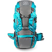 Highlander Discovery Rucksack ― 45L, 65L, 85L Premium Quality Backpack ― Durable with Waterproof Cover ― Large Unisex Bag for Men & Women Hiking, Travelling, Backpacking, Trekking ― Black, Blue & Red
