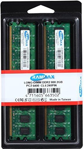 Pc2-6400 Ddr2 Dual Channel (RAMMAX 4GB (2x2GB) DIMM Desktop Arbeitsspeicher Dual Channel Kit DDR2 800MHz PC2-6300 PC2-6400 CL5 240-Polig (Rechnung mit ausgewiesener MwSt))