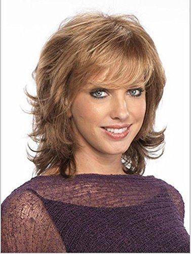 Meydlee Perücken Neue Mode braunmeliert Blonde Anti-kurze gerade volle Perücken für Frauen