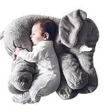 Demarkt Elefant Kissen Baby Elefant Plüsch Kinderzierkissen Baby Schlafkissen Plüschtier Lendenkissen Baby Elefantenkissen (Grau)
