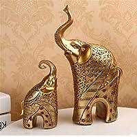 pengweielefante artesanías de resina decoración del hogar adornos pintados , silver pair
