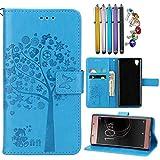 Best Sony Guardare Cellulari - LEMORRY Sony Xperia L1 Custodia Pelle Portafoglio Guardare-Supporto Review