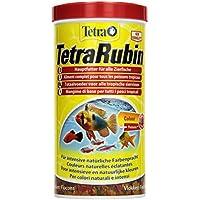 TetraRubin Hauptfutter (für Zierfische, für intensive Farbenpracht mit natürlichen Farbverstärkern, plus Präbiotika für verbesserte Körperfunktionen und Futterverwertung), 1 Liter Dose