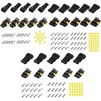 15Conjuntos impermeable Cable eléctrico Conector 234pines forma Mototcycle coche Auto Sellado conector IP68