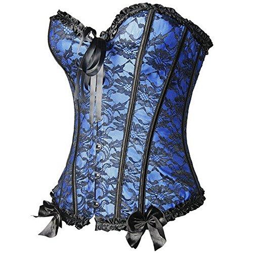 U-Pretty Le donne di Cincher della vita disossato il corsetto lingerie esclusiva Blu