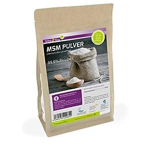 MSM Pulver 1000g – (Methylsulfonylmethan) 99,9% Reinheit – Meshfaktor 40-80 – 1kg Organischer Schwefel – Premium Qualität