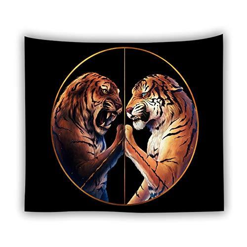 Wölfe Home Trikot (jtxqe Fabrik direkt Tapisserie Picknick Matte Tier Tapisserie Digitaldruck Wolf Löwe Tiger heiße Wandbehang Wanddekoration 6 230x150 cm)