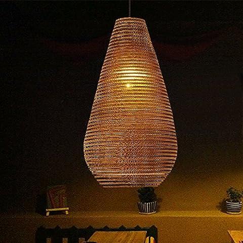 LIVY Village lampadario americano pupa nudo retrò bar creativo studio camera da letto carta lampadario cartone alveolare lampadario