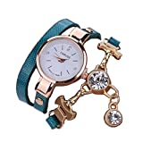 Bluestercool Women Girls Metal Strap Watch (B)