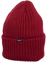 Obey Linden Beanie Wo's hommes, casquette, rouge