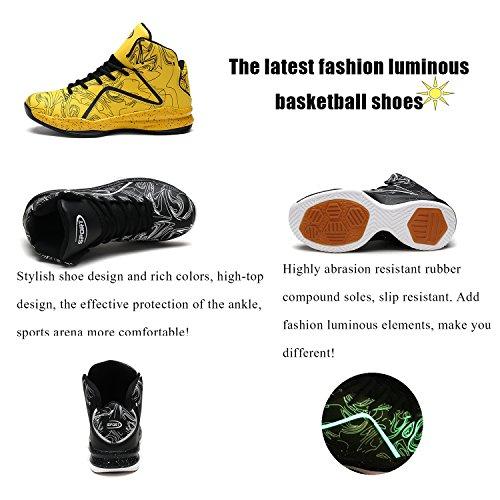 Ashion Chaussures De Basketball Pour Homme Hi-top Sneaker 5-rouge
