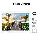10-Zoll-Tablet Android 7.0 WiFi entsperren 4G-Telefon Tablet 4 GB + 64 GB Octa-Kern IPS-Bildschirm 1920x1200 Dual-Kamera WiFi SIM-Karte Bluetooth (Silber)