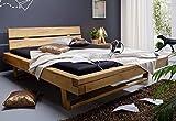 Main Möbel Balkenbett Holz massiv 180x200cm Fichte gebeizt Jeanette