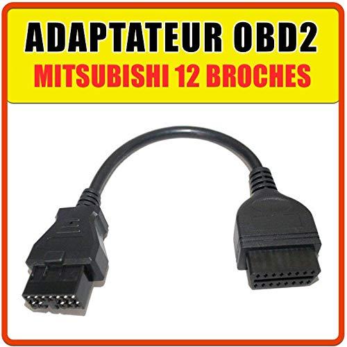 Mitsubishi 12 Pin Car Diagnostic OBD2 Adapter
