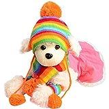Myoyo 6 Stück/Set Hund Haustier Welpen Hut Schal Bein Haustier Hund Kleidung Für Kleine Hunde Chihuahua Winter Warme Heimtierbedarf Welpen Outfit Kostüm XXXS-L,Rainbow,XS