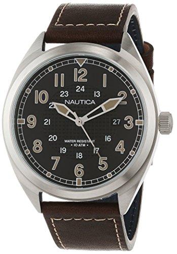 Nautica Men's Analogue Quartz Watch with Leather Strap NAPBTP001
