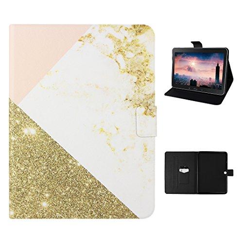 Galaxy Tab 4 10.1 T530/T531/T535/T533 Tasche mit Auto Wakeup / Untätigkeit Funktion, Galaxy Tab 4 10.1 Hülle Case, Galaxy Tab 4 T530 Hülle Marmor, Galaxy T535 Hülle Marmor, Marble Marmor Design, Moon mood® Hülle für Samsung Galaxy Tab 4 10.1 T530N/T531N/T535N/T533N SM-T530 SM-T533 SM-T531 SM-T535 mit Automatischen Schlaf / Wake PU Leder Weich TPU Innere Bumper Abdeckungs Backcover Handytasche Stand Etui im BookStyle Tasche Standfunktion Halter Kreditkarte Slots und Magnetverschluss Case (Samsung Galaxy Tab 4 Portemonnaie)