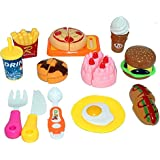 Realistic Sliceable Fast Food Items Like Pizza, Hot Dog, Burger, French Fries, Etc With Velcro Pretend & Play Toy For Kids (Multicolor) By The Viyu Box