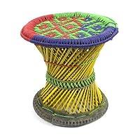 Bomzers Bargains Fair Trade Hand Made Bamboo Mudha Nepalese Nepal Chair Stool 30cm / 40cm (Small 30cm x 33cm)