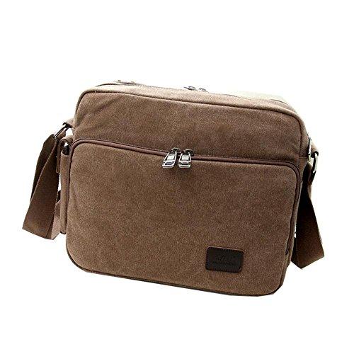 Viaggi sacchetto esterno della tela di canapa impermeabile spalla casuale borsa diagonale pacchetto , blue coffee