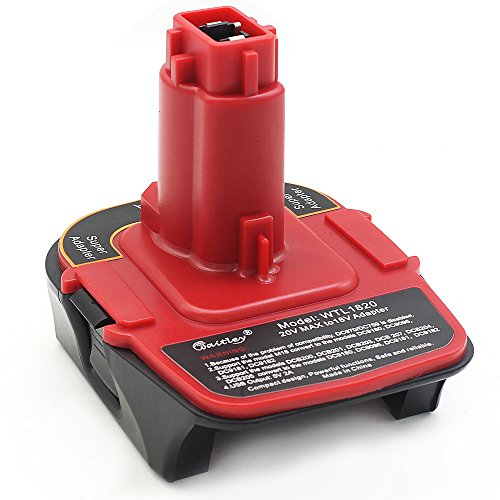 Waitley ADAPTOR - Battery Adapter for DeWALT tools 18V - 20V DCA1820 DCB090 (USB Converter)USB Power Bank Function Converted into DeWALT DC9096 - Usb Dewalt Volt 20