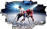 Eishockey Eis Stadium Wandtattoo Wandsticker Wandaufkleber C0617 Größe 70 cm x 110 cm