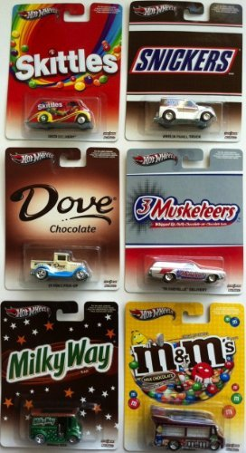 hot-wheels-164-scale-mms-set-of-6-cars-includes-skittles-deco-delivery-dove-29-ford-pick-up-milky-wa