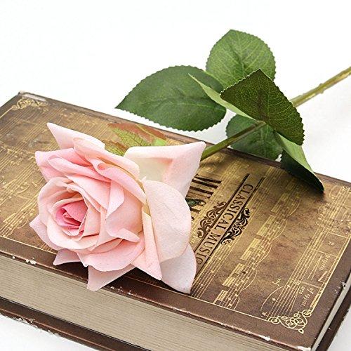 Tutoy Einzelne Stoff Rose Künstliche Gefälschte Blumenstrauß Hochzeitsfest Home Decoration (Kostüm Damen Einzelne Anzug)