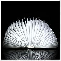 Led night light book,Usb recargable libro plegable luz creativa ambiental plegable libro decoración lámpara lámpara de mesa de escritorio-A