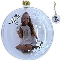 Weihnachtskugel Dekokugel LED-Kugel Flocke Glas weiss 2-Fach sort