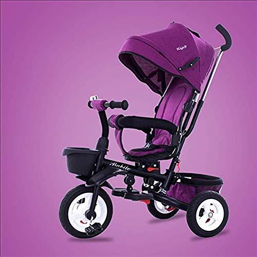 Qivor Kinderwagen Kinder-Dreirad 1-6 Jahre alt Leichter Klappwagen mit UV-Markise, 6 Farben erhältlich (Color : 5)
