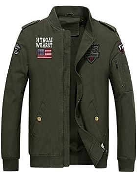 MEI&S Hombre De primavera otoño casual chaqueta delgada capa piloto Tops ropa