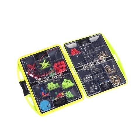 Lixada Portable 24 compartiments pêche Boîte à outils complet plein Loaded crochet Spoon Lure Plomb Etanche pour pêcheu