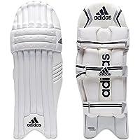 adidas XT 1.0 - Bloc de bateo de Críquet, Color Blanco, Negro y Plateado, Tamaño RHSM