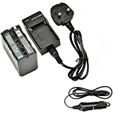 DSTE Spare Battery and DC01U Travel Charger Kit for Sony NP-F970 CCD-TR716 CCD-TR818 CCD-TR910 CCD-TR917 CCD-TR930 CCD-TR940 CCD-TR3000 CCD-TR3300 CCD-TRV15 CCD-TRV25 CCD-TRV36 TRV37 CCD-TRV41
