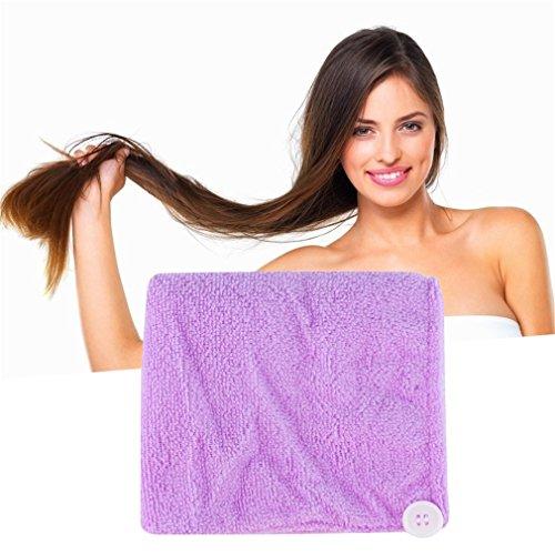 FairytaleMM Mikrofaser Nach Dusche Trocknen der Haare Wrap Tuch-schnelle trockene Haar-Hut-Kappe Turban
