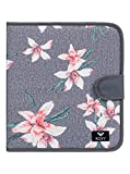 Roxy What A Day Carpeta de 4 Anillas, Mujer, Rosa/Gris (Charcoal Heather Flower Field)