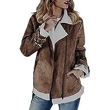 Beladla Chaqueta Abrigo Mujer De Lana CáLida Cremallera Abrigo con Capucha SuéTer Abrigo De AlgodóN Outwear