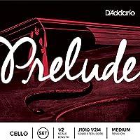 Juego de cuerdas para violonchelo Prelude de D'Addario, escala 1/2, tensión media.