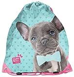Studio Pets - Hunde Welpen Fan Turnbeutel Sportbeutel Schuhbeutel für Jungen und Mädchen (PEM), 38x34 cm, blau/rosa