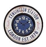 osters muschel-sammler-shop Maritime Metall-Wanduhr - Shabby Look- antik-Look - analoge Uhr - Nostalgie-Uhr- Antikoptik -schwarz 59cm Durchmesser