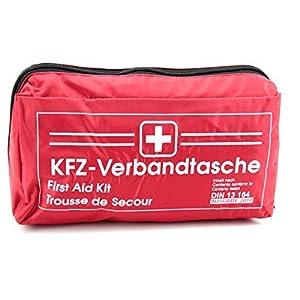 keine Angabe KFZ Auto Verbandkasten Verbandskasten ROT Erste Hilfe DIN 13164 (MHD 11.2023)