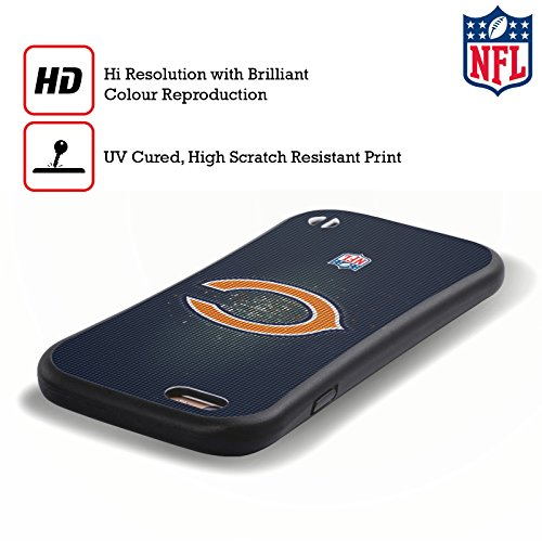 Ufficiale NFL Pattern 2017/18 Chicago Bears Case Ibrida per Apple iPhone 7 Plus / 8 Plus LED