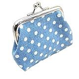 Amlaiworld Womens kleine Pailletten Wallet Card Inhaber Münze Handtasche Handtasche Handtasche (hellblau)