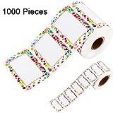 1000 Stücke Namensschild Aufkleber Selbstklebende Namensschilder für Gläser Flaschen Kinderkleidung Party und Schule, 2 Größen (Farbe Set 2)