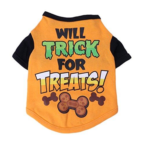 dairyshop Pet Hund Puppy Katze niedlichen Buchstabe Print T-Shirt, Sommer Weste Bekleidung Kostüm (Shirts Kinder Halloween T Niedlichen)