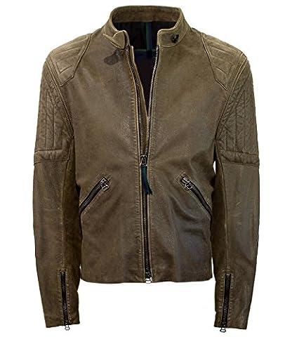 Belstaff Goodwood Brough Men's Leather Jacket (38)