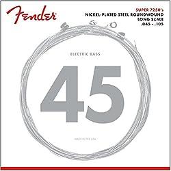 Fender 7250M Jeu de cordes pour Basse électrique Rouge